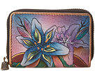 Anuschka Handbags - 1110 (Luscious Lilies Denim) - Bags and Luggage