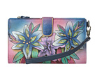 Anuschka Handbags - 1115 (Luscious Lilies Denim) - Bags and Luggage