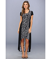 Marc New York by Andrew Marc - Hi-Lo Print Maxi Dress