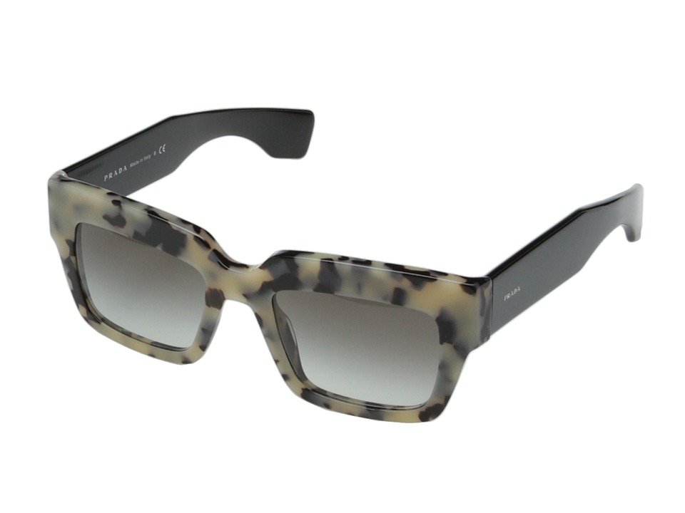 Prada PR 28PS White Havana/Grey Gradient Fashion Sunglasses