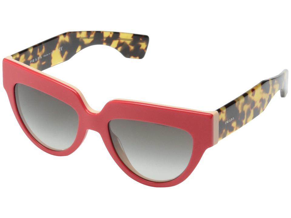 Prada PR 29PS Top Red/Beige/Grey Gradient Plastic Frame Fashion Sunglasses