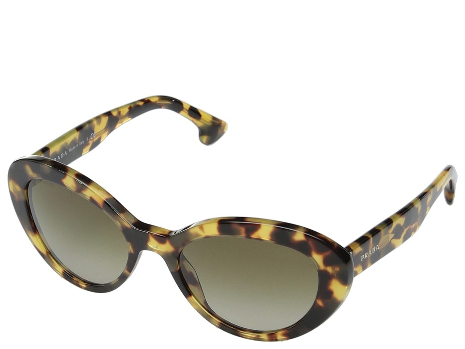 Prada 0PR 15QS Medium Havana/Brown Gradient Fashion Sunglasses
