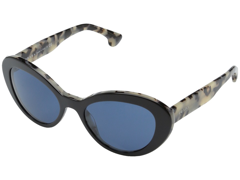 Prada 0PR 15QS Black/White/Blue Fashion Sunglasses
