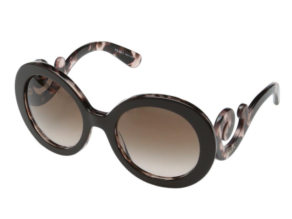 Prada PR 27NS Brown/Pink/Brown Gradient Fashion Sunglasses