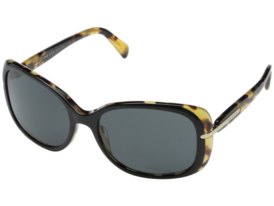 Prada 0PR 08OS Black/Havana/Grey Fashion Sunglasses