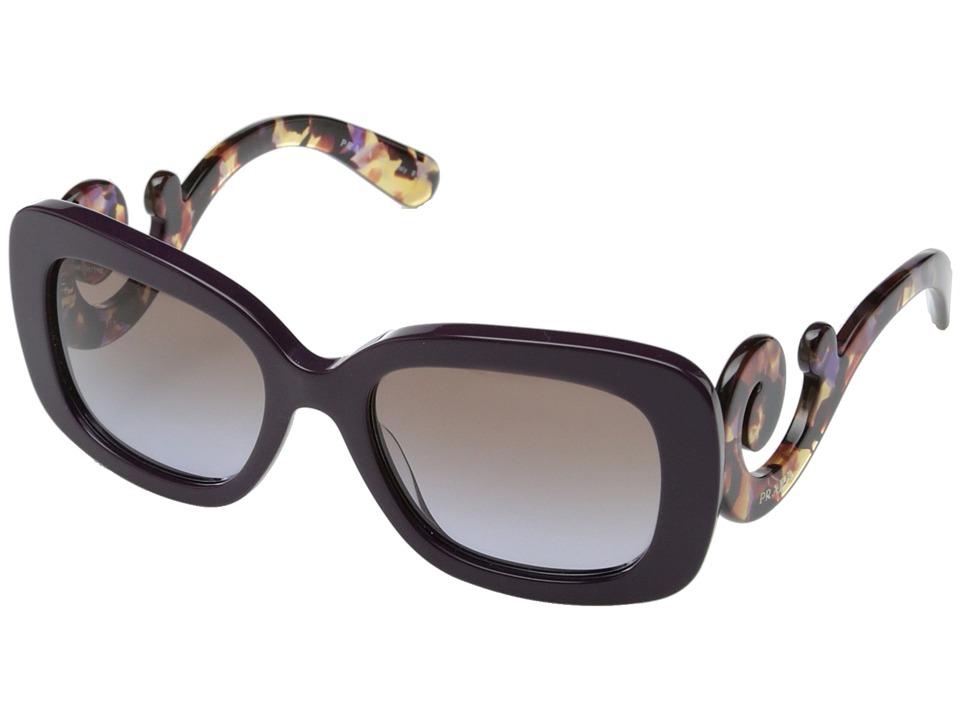 Prada 0PR 27OS Violet/Violet Brown Gradient Plastic Frame Fashion Sunglasses