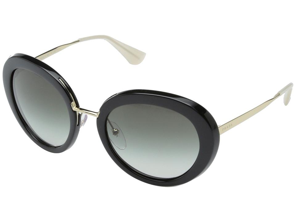 Prada 0PR 16QS Black/Opal Ivory/Grey Gradient Fashion Sunglasses