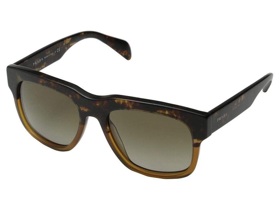 Prada 0PR 14QS Spotted Brown/Brown Gradient Fashion Sunglasses