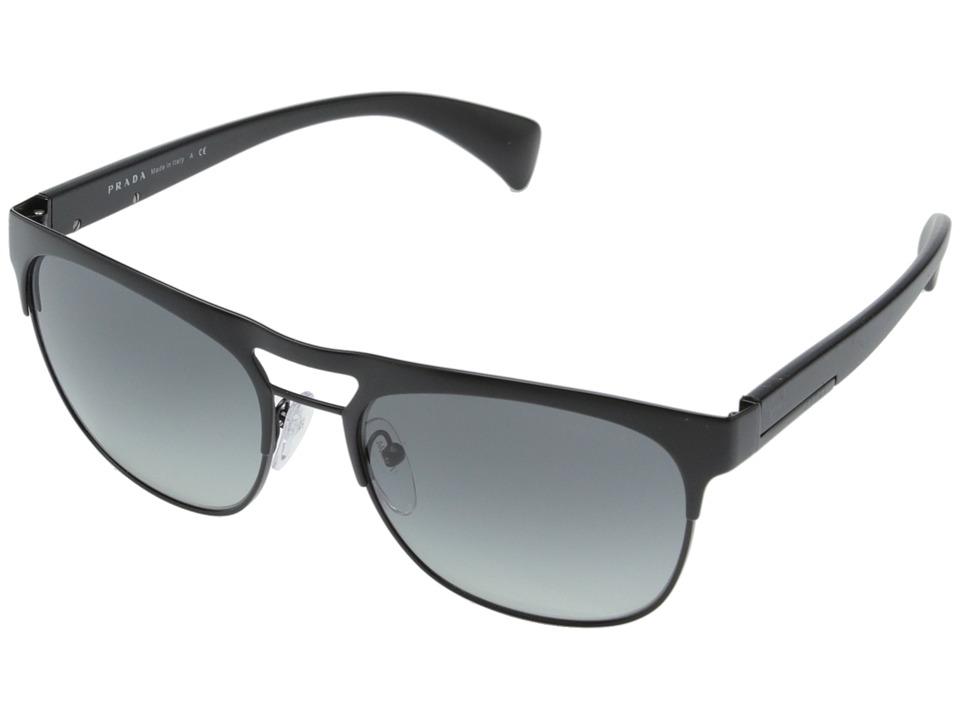 Prada 0PR 52QS Matte Black/Grey Gradient Fashion Sunglasses