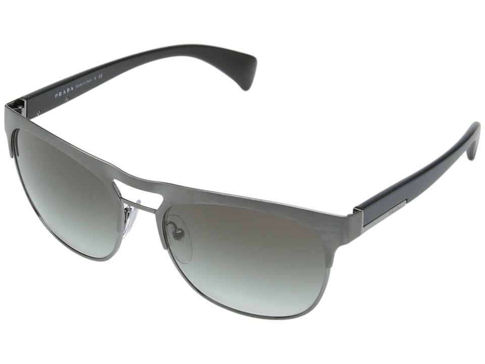 Prada 0PR 52QS Gunmetal/Grey Gradient Fashion Sunglasses