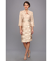 Jessica Howard - 2 piece Bolero Jacket With Tucked Waist And Laser Cut Dress