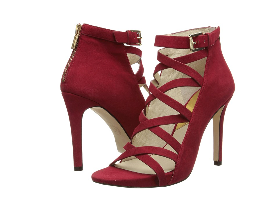 MICHAEL Michael Kors Thedore Back Zip (Scarlet Kid Suede) High Heels