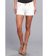 Big Star - Remy Low Rise Fray Short in Distressed Whitewater