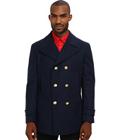 Versace Collection - Wool Peacoat With Gold Buttons