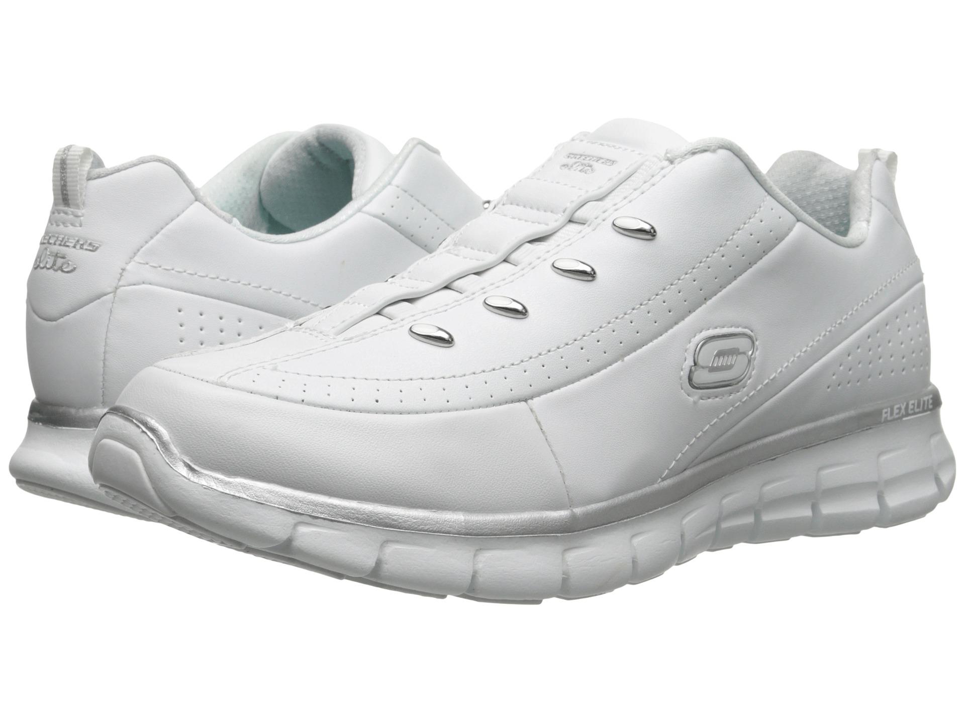 Skechers Elite Class White Silver
