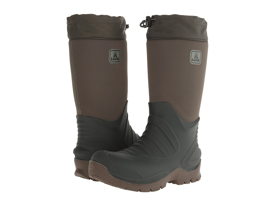 Kamik Coldcreek Olive Mens Cold Weather Boots