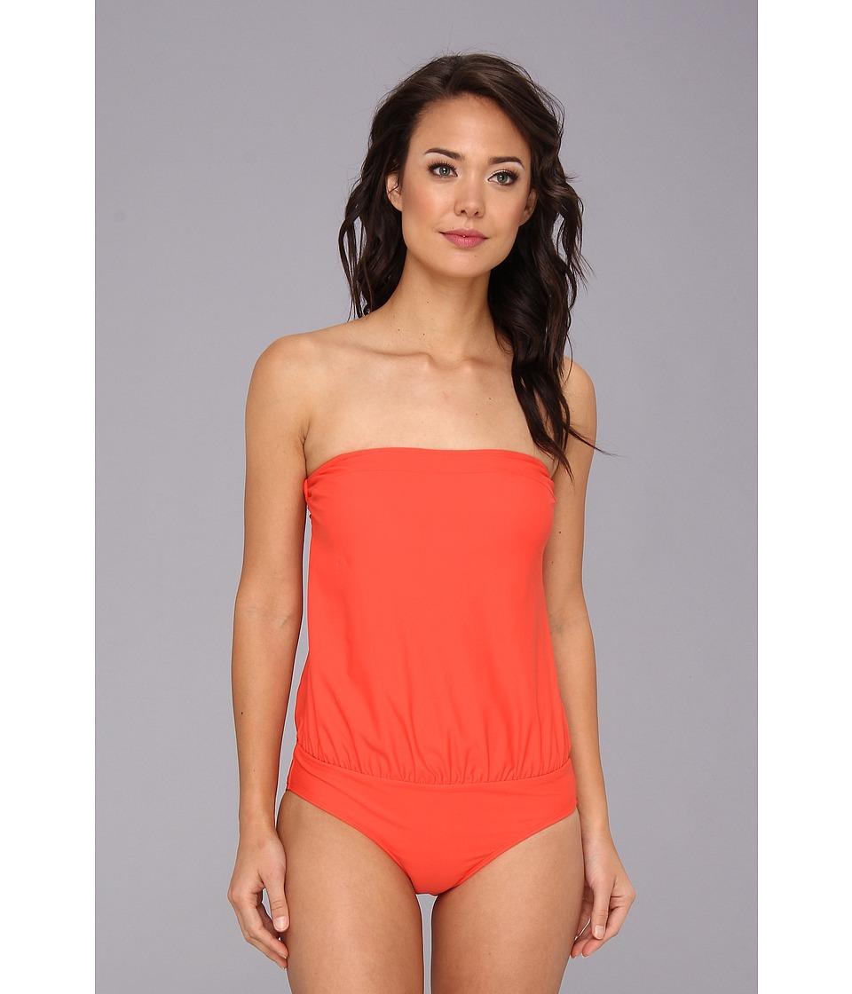 Christin Michaels Tilia One Piece (Tangerine) Women's Swimsuits One Piece<br />