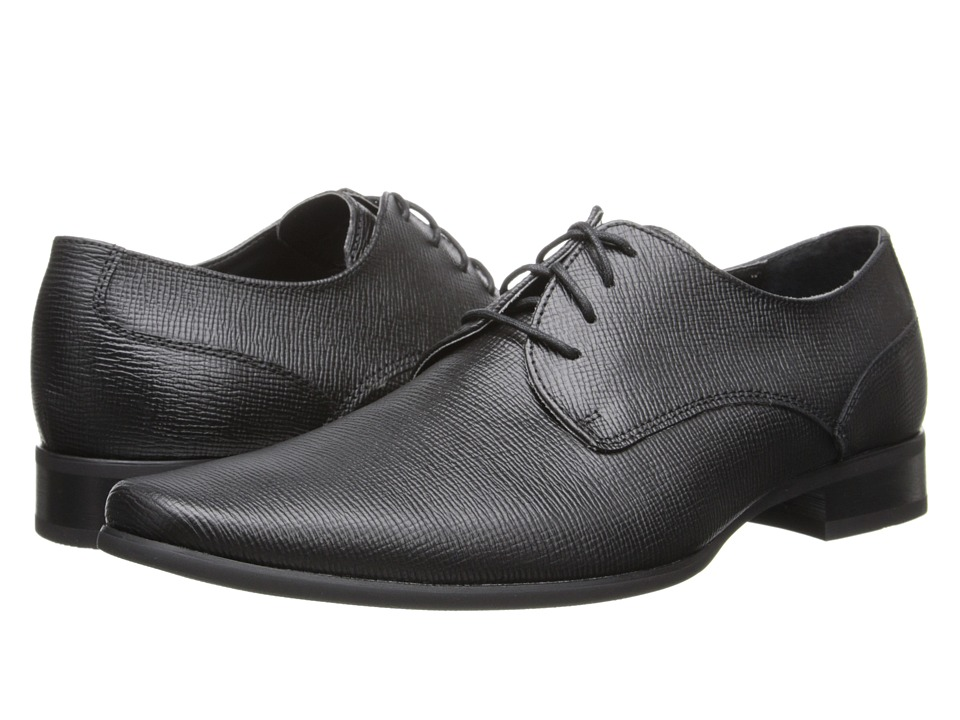 Calvin Klein Brodie (Black Epi Leather) Men's Lace up casual Shoes