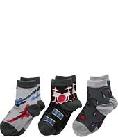 Jefferies Socks - Rock Star Triple Treat 3-Pack (Infant/Toddler/Little Kids)