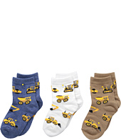 Jefferies Socks - Construction Triple Treat 3-Pack (Infant/Toddler/Little Kid)