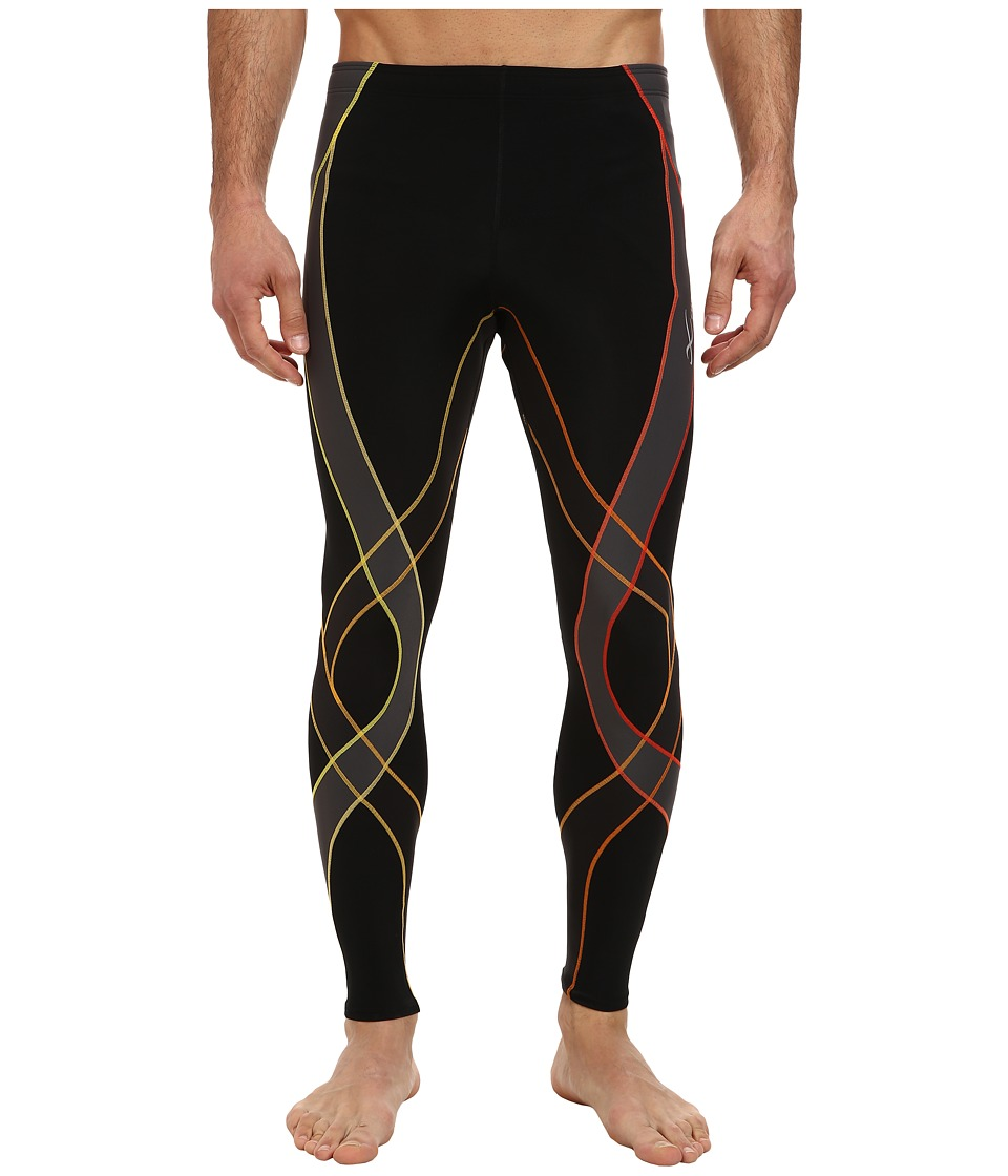 CW X Endurance Generator Tights Black/Orange Gradient Mens Workout