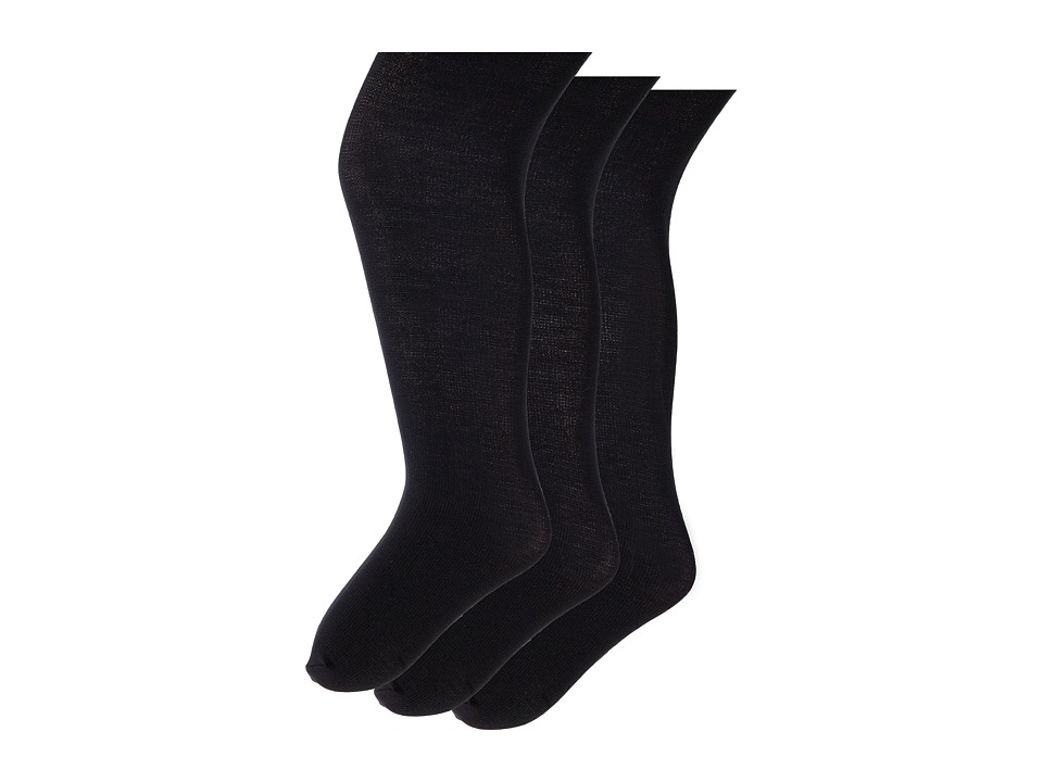Jefferies Socks Pima Cotton Tights 3-Pack (Infant/Toddler/Little Kid/Big Kid) (Black) Hose