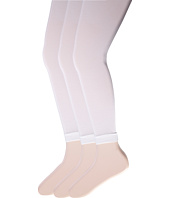 Jefferies Socks - Pima Cotton Footless Tights 3-Pack (Little Kid/Big Kid)