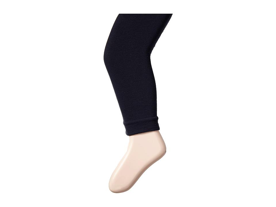 Jefferies Socks Pima Cotton Footless Tights 3 Pack Little Kid/Big Kid Navy Hose