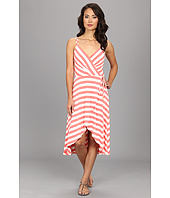 Vince Camuto - Striped High-Low Faux Wrap Dress