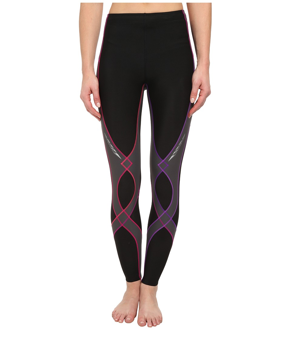 CW X Insulator Stabilyx Tights Black/Purple Gradient Womens Workout