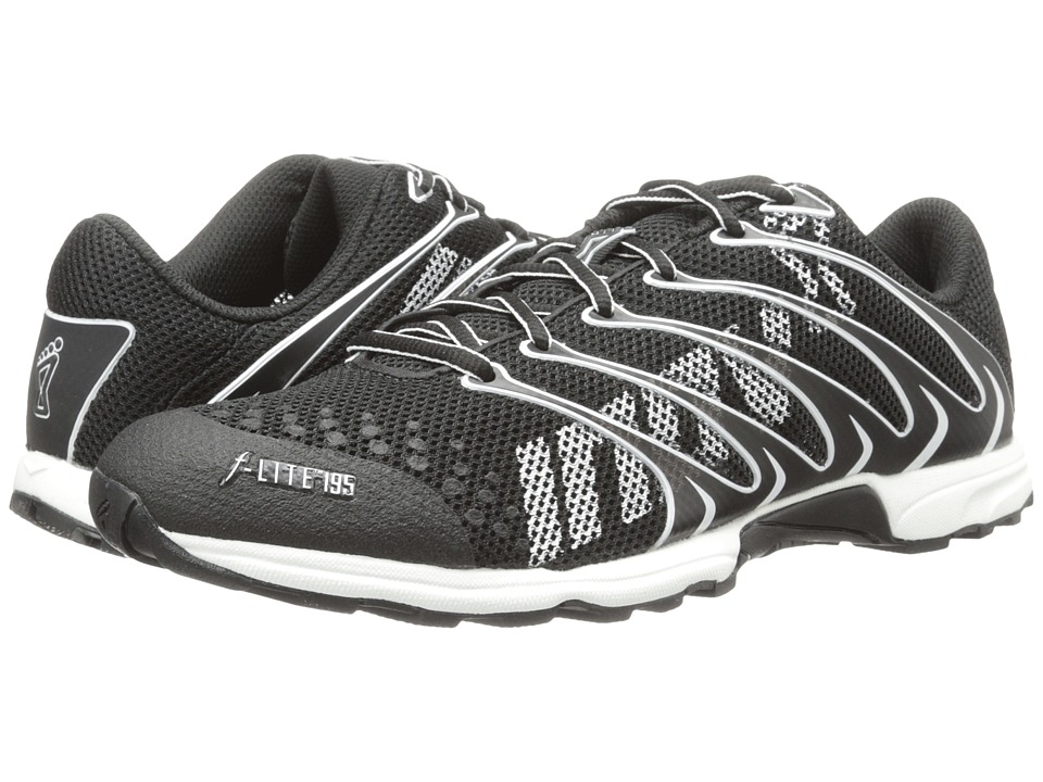 inov 8 F Lite 195 Black/White Running Shoes