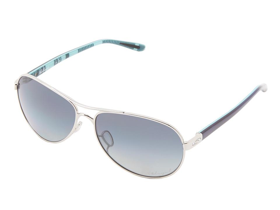 Oakley - Feedback (Polished Chrome w/ Grey Grad Polarized) Sport Sunglasses