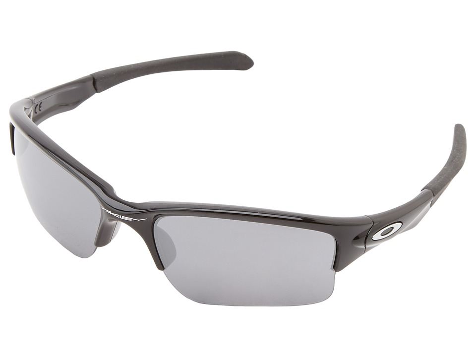 Oakley - Quarter Jacket (Youth) (Polished Black w/ Black Iridium) Sport Sunglasses