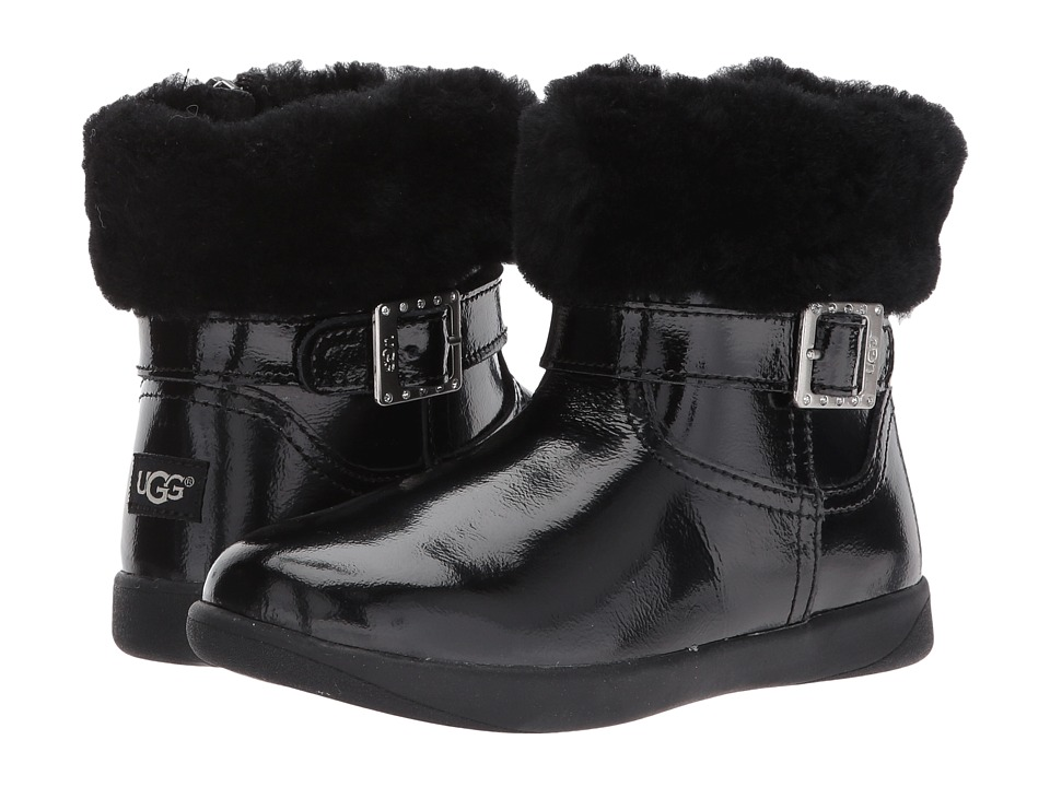 UGG Kids Gemma (Toddler) (Black) Girls Shoes