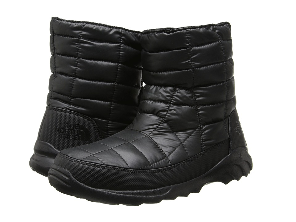 The North Face ThermoBall Bootie II (Shiny TNF Black/TNF Black) Men