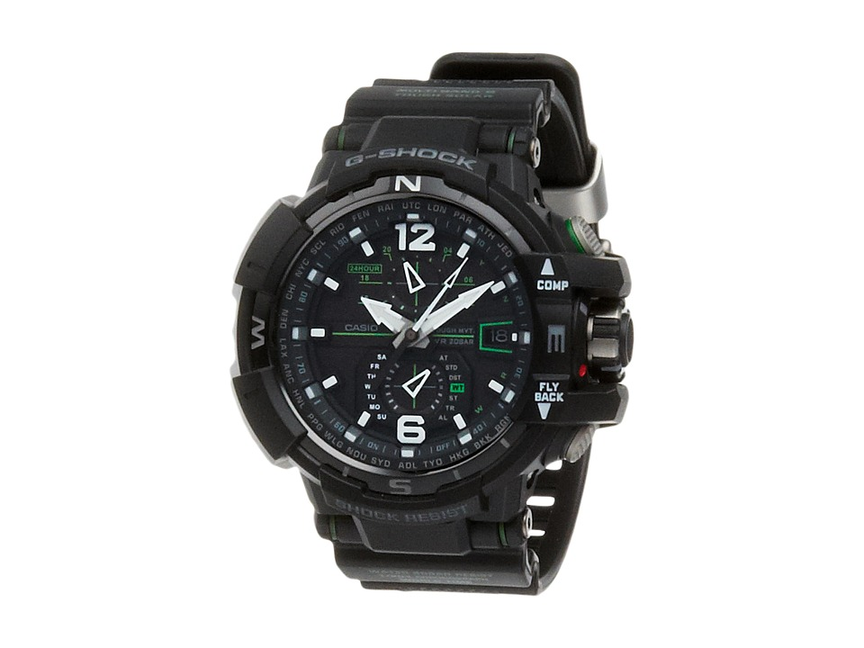 G Shock G Aviation GWA1100 Black/Green Watches