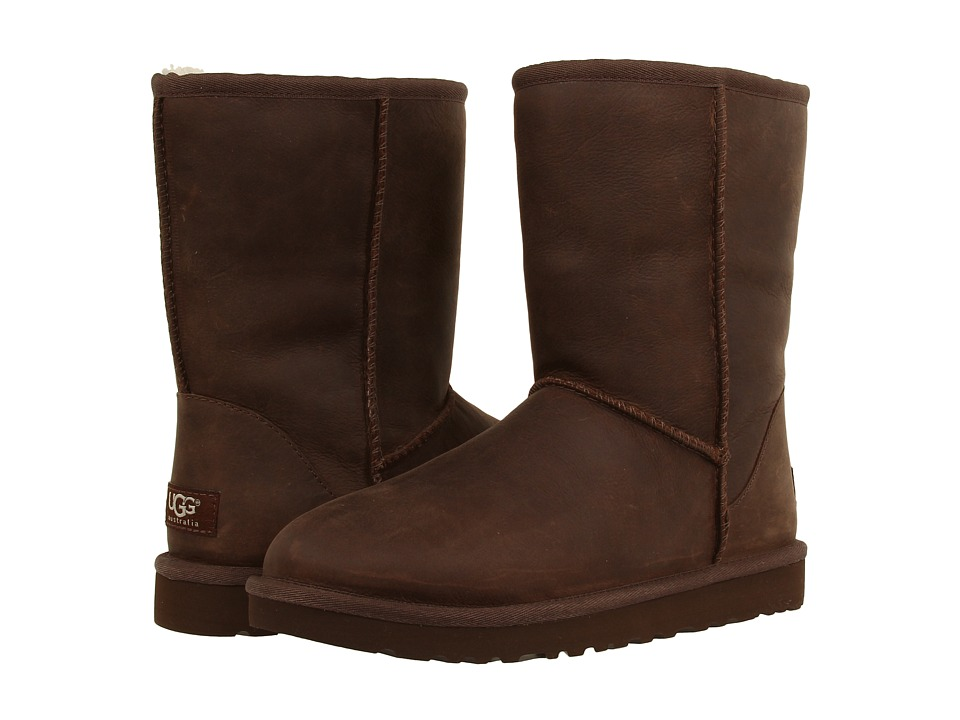 UGG Classic Short Leather (Brownstone) Women