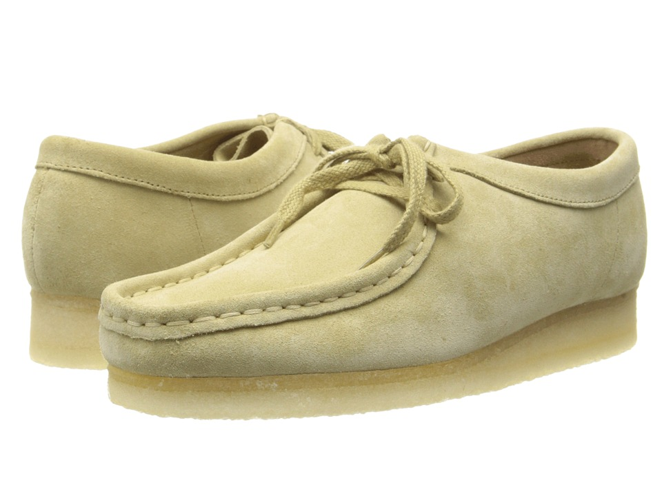 Clarks - Wallabee (Maple Suede) Women's Lace up casual Shoes