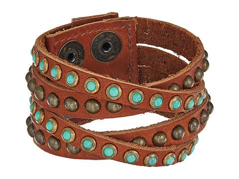 Leatherock B339 - Vintage Brown/Turquoise/Coral
