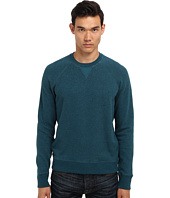 Vince - French Terry w/ Contrast Poplin L/S Crew