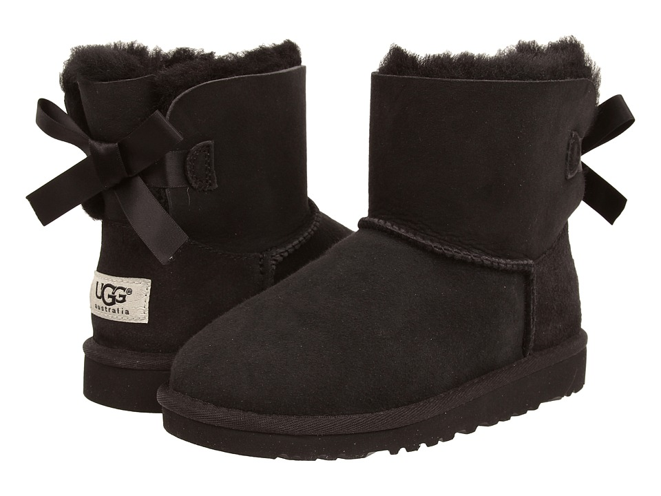 UGG Kids Mini Bailey Bow (Big Kid) (Black) Girls Shoes