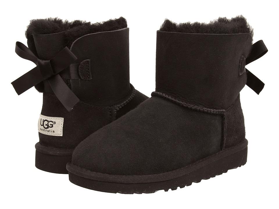UGG Kids Mini Bailey Bow Big Kid Black Girls Shoes