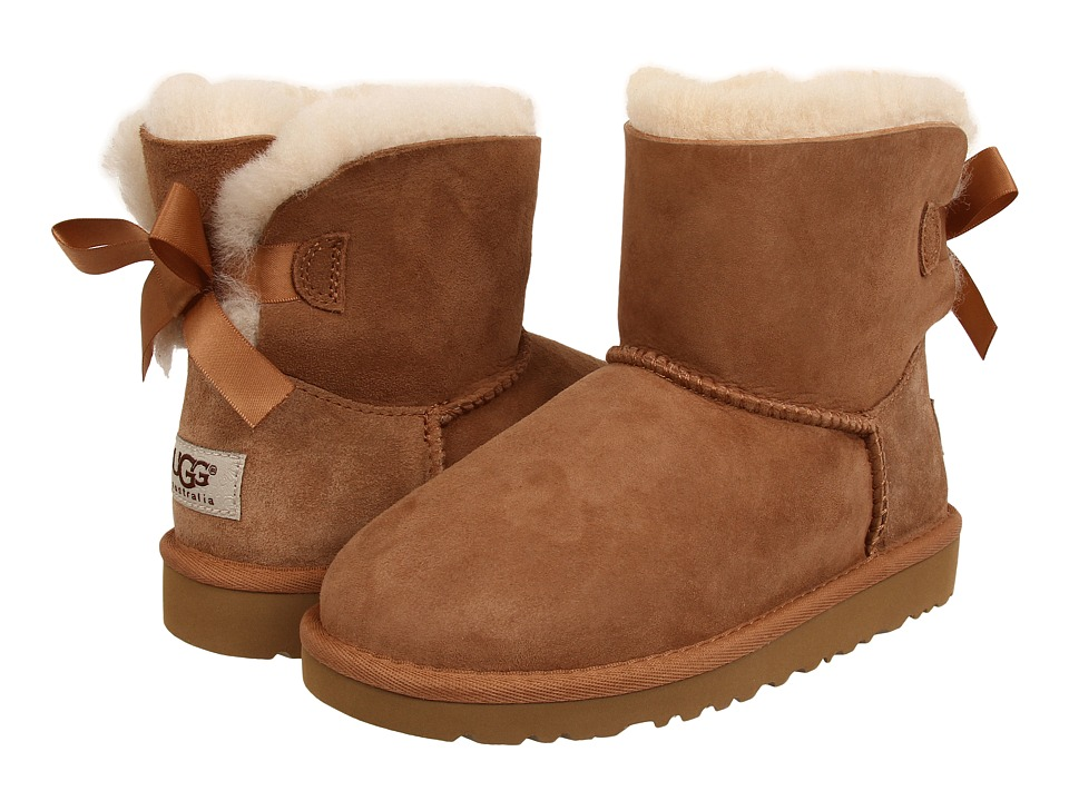 UGG Kids Mini Bailey Bow (Big Kid) (Chestnut) Girls Shoes