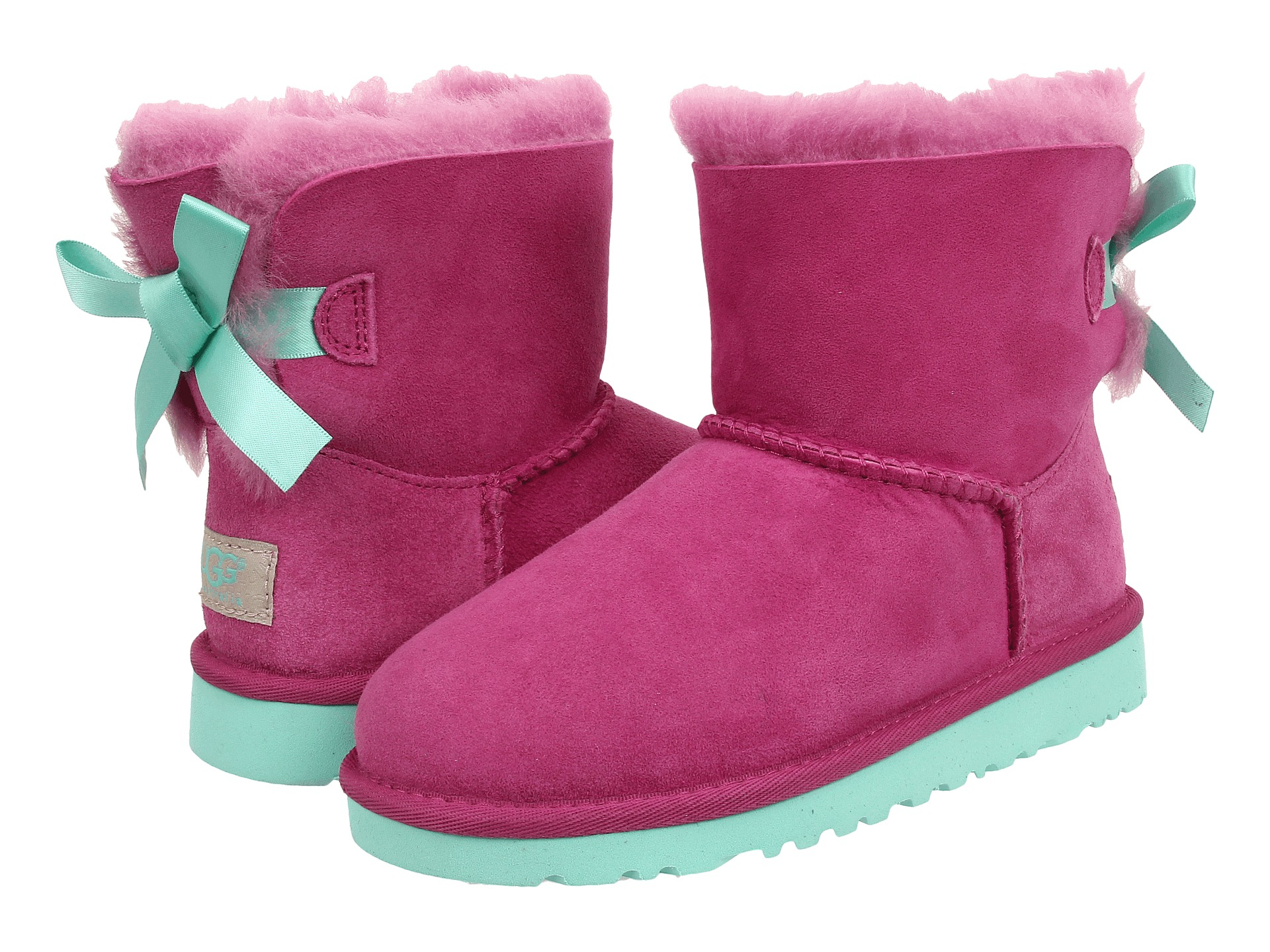 victorian pink bailey bow uggs
