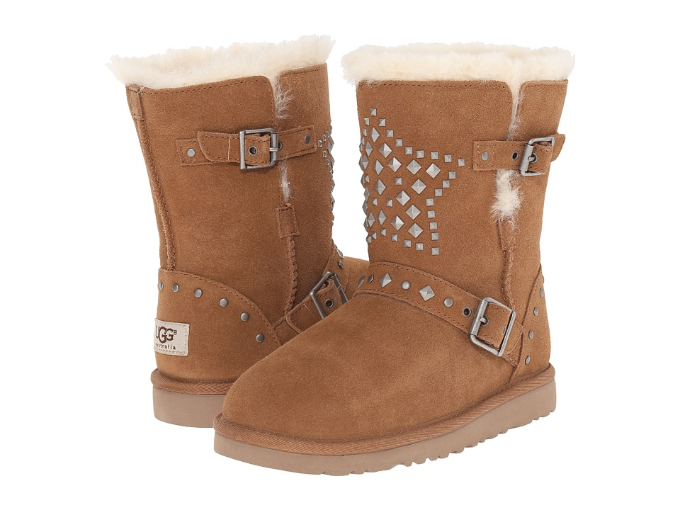 UGG Kids Adrianna Stars (Toddler/Little Kid/Big Kid) (Chestnut) Girls Shoes
