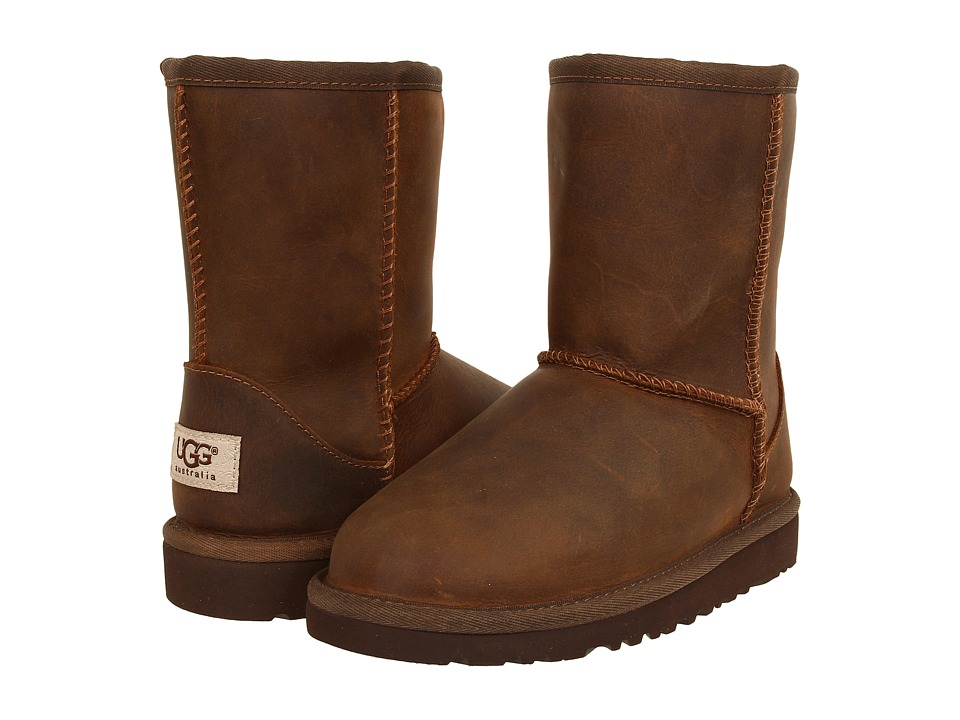 UGG Kids Classic Short Leather (Little Kid/Big Kid) (Chestnut) Kids Shoes