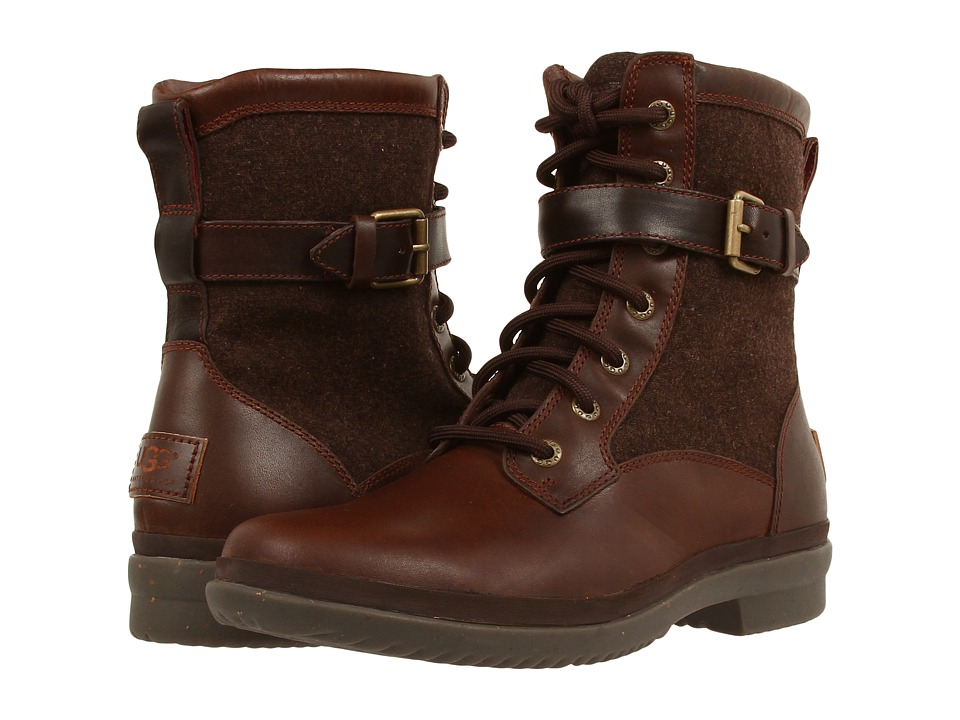 Vintage Style Boots, Retro Boots, Granny Boots, Fur Top Boots UGG - Kesey Chestnut Womens Boots $159.95 AT vintagedancer.com
