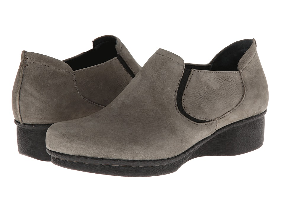 Dansko Lynn Khaki Nubuck Womens Shoes