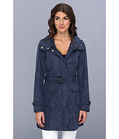 Ellen Tracy - Snap Front Techno Trench with Stow Hood