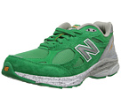 New Balance W990 Green, Grey Shoes